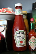 Heinz Tomato Ketchup Posters - Diner Table Condiments and Other Items - 5D18038 Poster by Wingsdomain Art and Photography