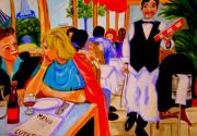 Montmartre Sculpture Prints - Diners at La Lutetia Print by Rusty Woodward Gladdish