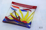 Sunset Glass Art Originals - Dinghy by Isaac Richter