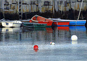 Buoys Prints - Dinghys in Rockport Harbor Print by EJ Lefavour