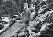 Dingmans Falls Framed Prints - Dingmans Falls In Winter Framed Print by Stephen  Vecchiotti
