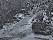 Dingmans Falls Photos - Dingmans Falls Winterscape by Stephen  Vecchiotti
