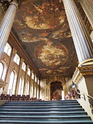 Naval College Framed Prints - Dining Hall at Royal Naval College Framed Print by Anna Villarreal Garbis