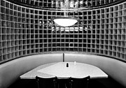 Glass Wall Prints - Dining in black and white Print by David Lee Thompson