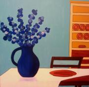 Table Cloth Prints - Dining In Print by Ed Akers