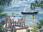 Perry Painting Originals - Dining in Paradise by Danielle  Perry