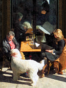 Sheepdogs Art - Dining Out With the Family by Susan Savad
