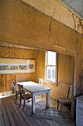 Crack House Framed Prints - Dining Room in Abandoned Home Framed Print by Eddy Joaquim