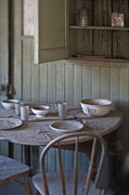 Bleak Desert Framed Prints - Dining Table in Abandoned Home Framed Print by Eddy Joaquim