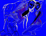 Dinka Paintings - Dinka Marriage by Gloria Ssali