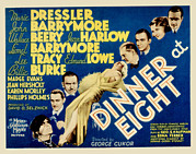 Harlow Prints - Dinner At Eight, Marie Dressler, John Print by Everett