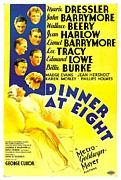 Harlow Framed Prints - Dinner At Eight, Top To Bottom Marie Framed Print by Everett