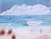 Seashore Drawings Metal Prints - Dinner at the Seashore Metal Print by John Edebohls
