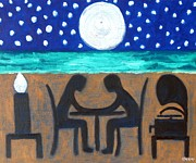 Dinner Paintings - Dinner For Two by Patrick J Murphy