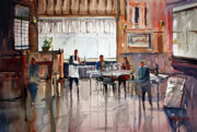 Impressionistic Wine Prints - Dinner For Two Print by Ryan Radke
