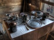 Log Cabin Photos - Dinner Is Served by Jane Linders