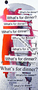 Food  Mixed Media Prints - Dinner Print by Linda Woods
