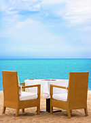 Banquet Posters - Dinner on the beach Poster by MotHaiBaPhoto Prints