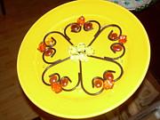 Dinner Plate Flowers Print by Diane Morizio
