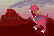 Featured Digital Art - Dino by Kyle Harper