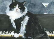 Feline Paintings - Dino Martini by Kim Sutherland Whitton