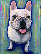 French Bulldog Prints Prints - Dino The French Bulldog Print by Ania M Milo