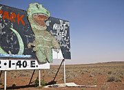 Dinosaurs Posters - Dinosaur Attraction Billboard Poster by Paul Edmondson