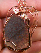 Utah Jewelry - Dinosaur Bone Fragment Pendant in Copper by Heather Jordan