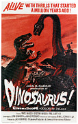 1960 Movies Prints - Dinosaurs, 1960 Print by Everett