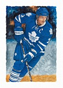 Toronto Maple Leafs Paintings - Dion Phanuef by Glen Green