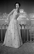 Evening Wear Photo Posters - Dior Ball Gown Poster by Kurt Hutton