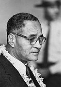 Race Discrimination Posters - Diplomat Dr. Ralph Bunche At The 1963 Poster by Everett