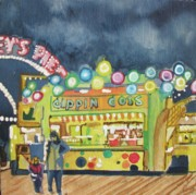 Night Scenes Drawings Prints - Dippin the Dots  Print by Patricia Arroyo
