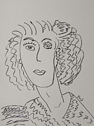 Pennsylvania Artist Drawings - Direct Woman by Mary Carol Williams