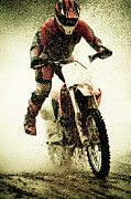 Adventure Posters - Dirt Bike Rider Poster by Thorpeland Photography