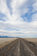 Water Line Photos - Dirt Road in Desert by Thom Gourley/Flatbread Images, LLC
