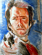 Clint Paintings - Dirty Harry  by Jon Baldwin  Art
