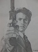 Dirty Harry Drawings - Dirty Harry by Rick Yanke