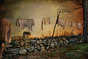 Old Shed Prints - Dirty Linen Print by Robin-Lee Vieira