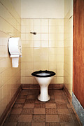 Public Restroom Prints - Dirty public toilet Print by Richard Thomas