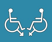 Disability Sexuality, Conceptual Artwork Print by Stephen Wood