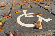 Traffic Control Photo Posters - Disabled Parking Sign Poster by Hans Engbers