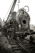 Train Car Photos - Disassembled Baldwin Locomotive by Scott Hovind