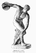 Throw Posters - Discobolus Casting Poster by Granger