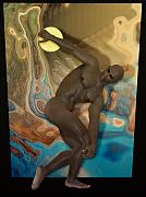 Greek Classic Prints - Discobolus of Africa Print by Joaquin Abella Ojeda