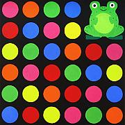 Multi-coloured Metal Prints - Discofrog Metal Print by Oliver Johnston