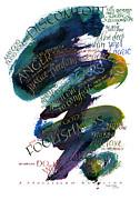 Discomfort Blue Print by Judy Dodds