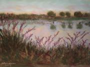 Texas Pastels Originals - Discovering Mitchell Lake by Cindy Morawski