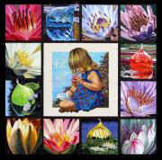 Various Painting Framed Prints - Discovering the Beuty of the Lily Framed Print by John Lautermilch