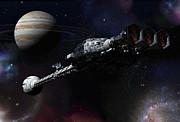 Discovery Near Jupiter Print by Joseph Soiza